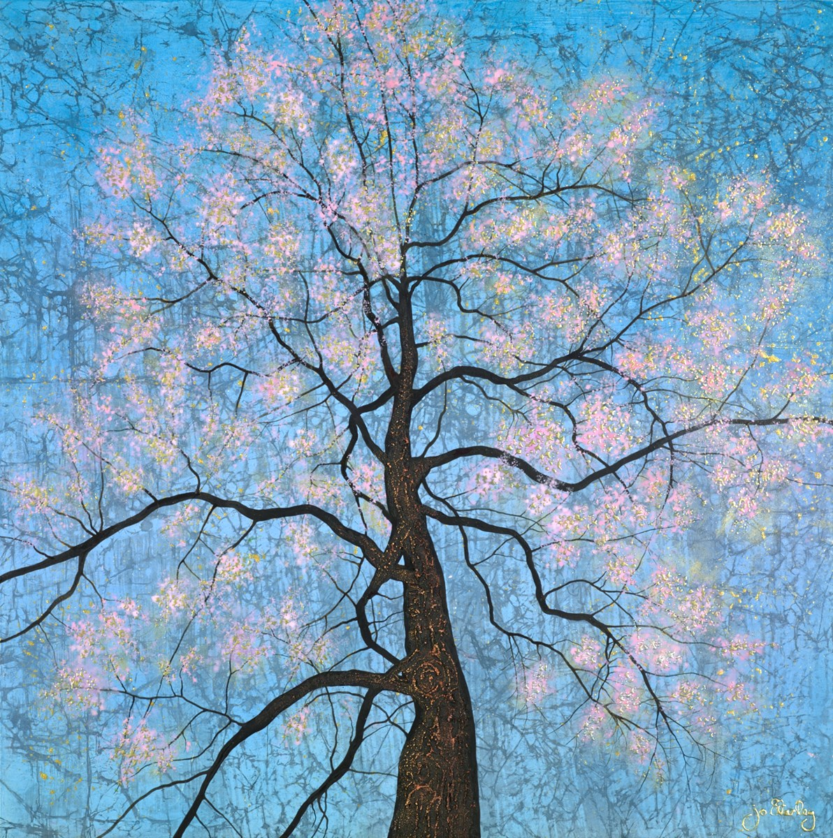 Mighty Blossom Tree by jo starkey -  sized 32x32 inches. Available from Whitewall Galleries